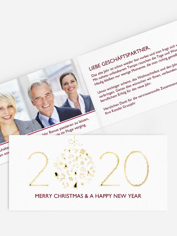 Premium-Weihnachtskarte Jahreskugel