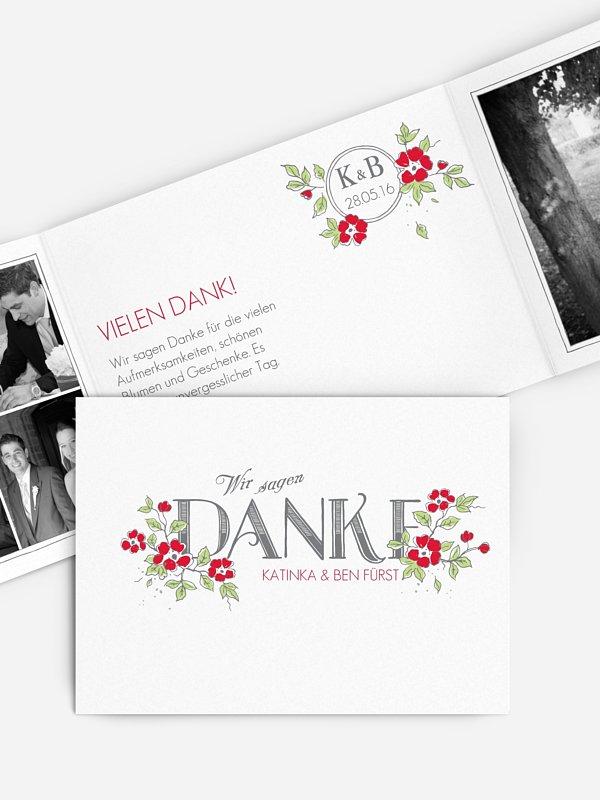 Dankeskarte Hochzeit Poesie