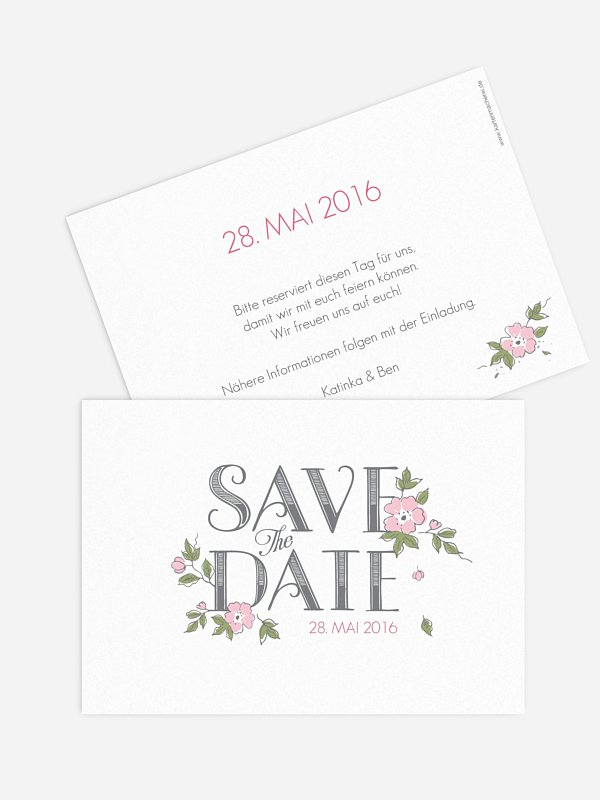 Save-the-Date Karte Poesie