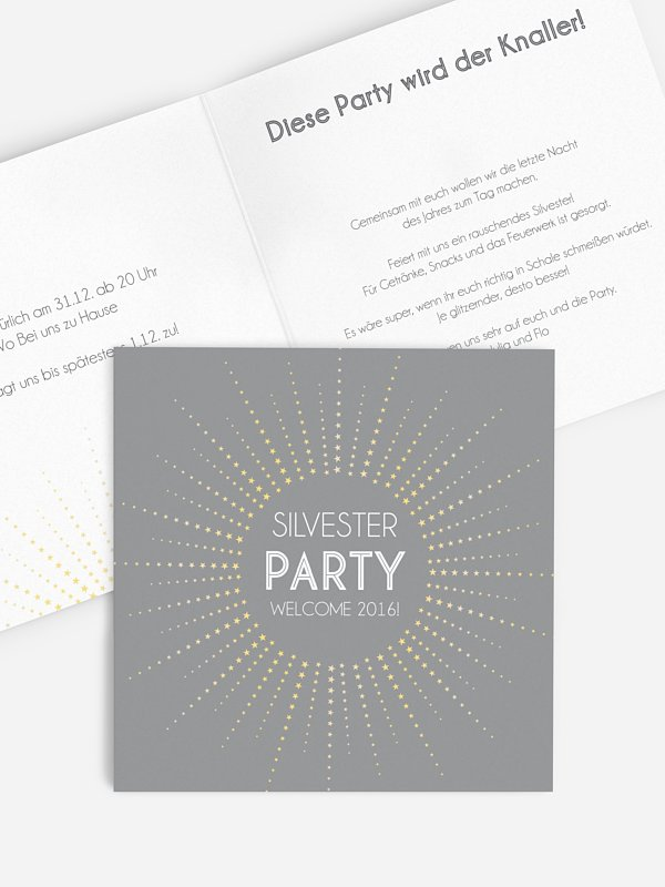 Partyeinladung Glamstar