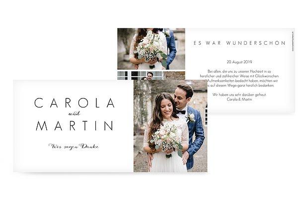 Dankeskarte Hochzeit Script
