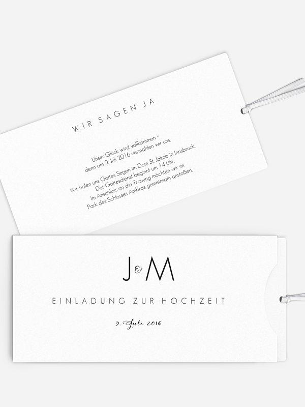 Hochzeitseinladung Script