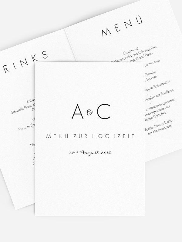 Menükarte Hochzeit Script