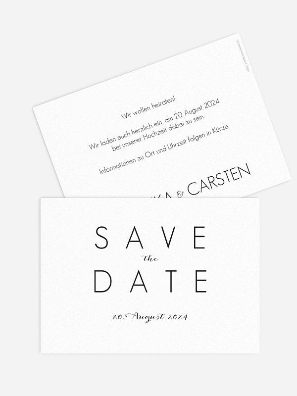 Save-the-Date Karte Script