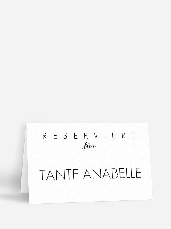 Tischkarte Hochzeit Script
