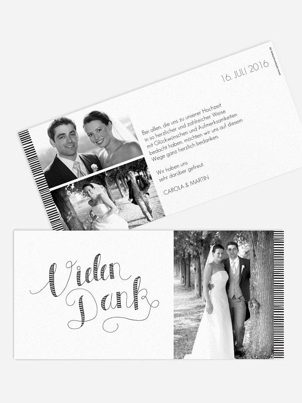 Dankeskarte Hochzeit Happy Day