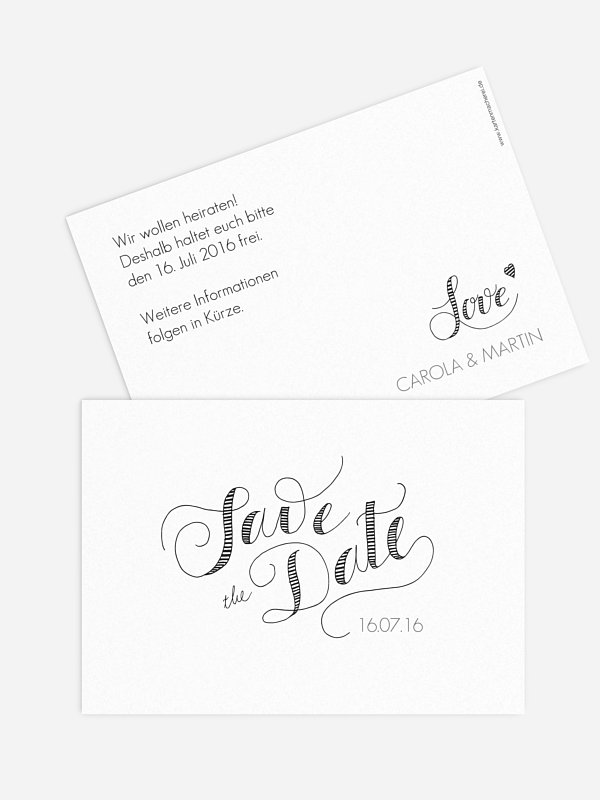 Save-the-Date Karte Happy Day