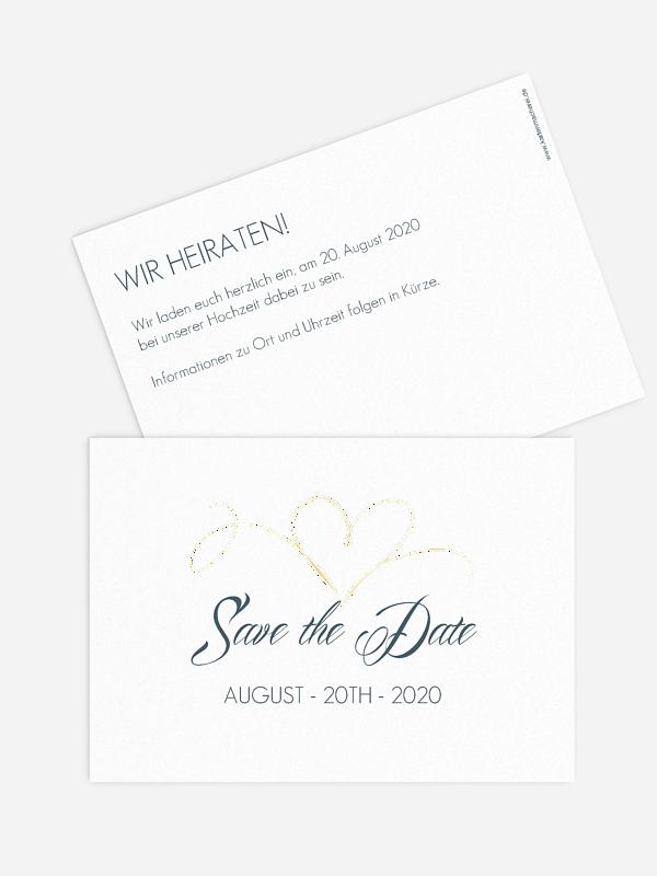 Save-the-Date Karte Herzschlag Premium