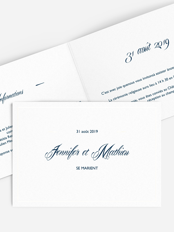 Faire-part mariage Intemporel premium