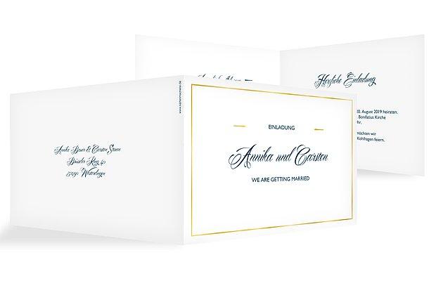 Hochzeitseinladung Zeitlos Premium