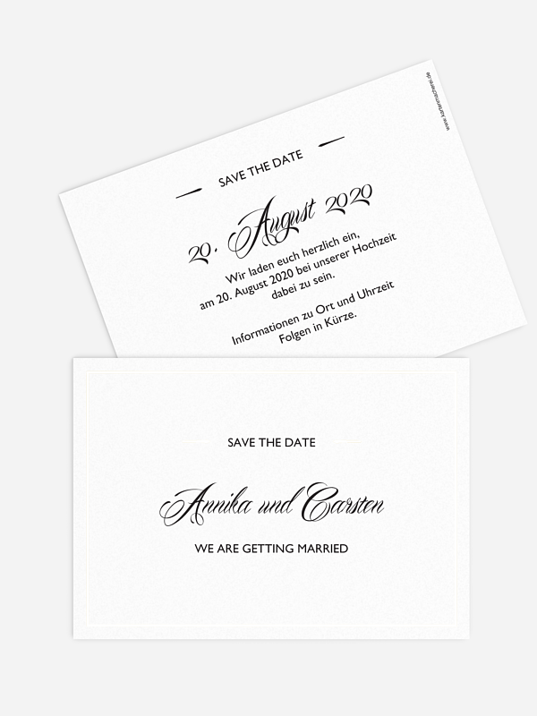 Save-the-Date Karte Zeitlos Premium