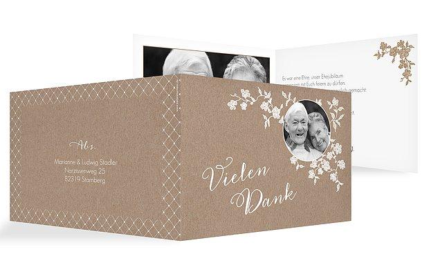 Danksagung zur Goldenen Hochzeit Spitzenblüte