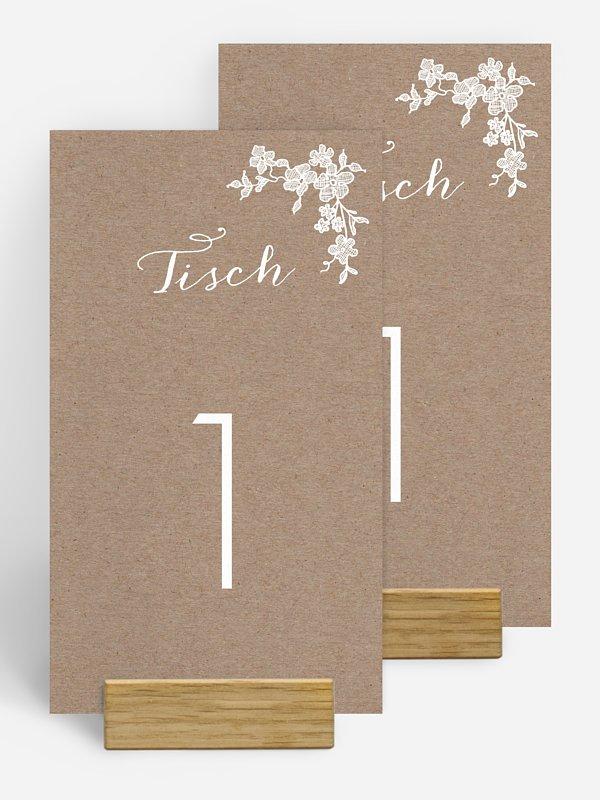 Tischnummer Spitzenblüte
