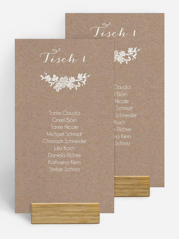 Gruppentischkarte Spitzenblüte