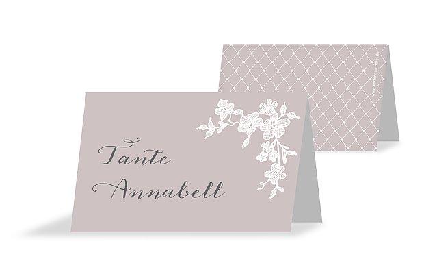 Tischkarte Hochzeit Spitzenblüte