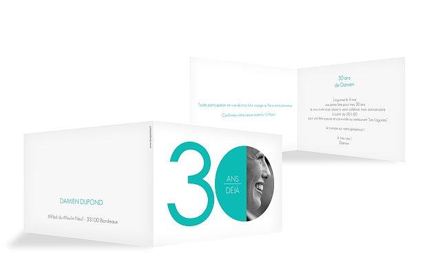 invitation anniversaire 30 Chiffre rond