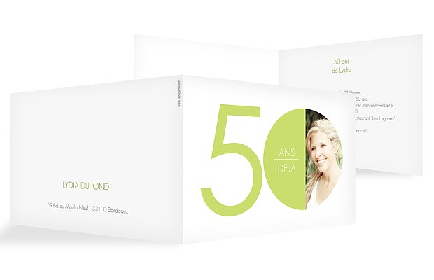invitation anniversaire 50 Chiffre rond