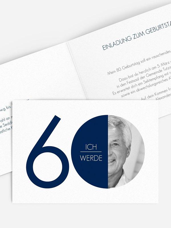 Einladung 60. Geburtstag Runde Nummer