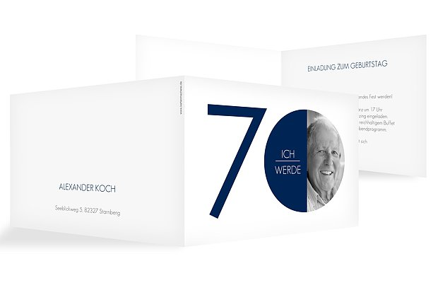 Einladung 70. Geburtstag Runde Nummer