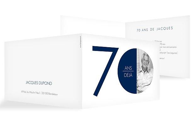 invitation anniversaire 70 Chiffre rond