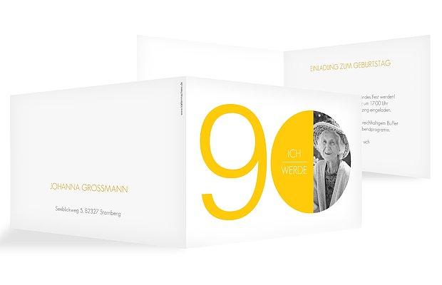 Einladung 90. Geburtstag Runde Nummer
