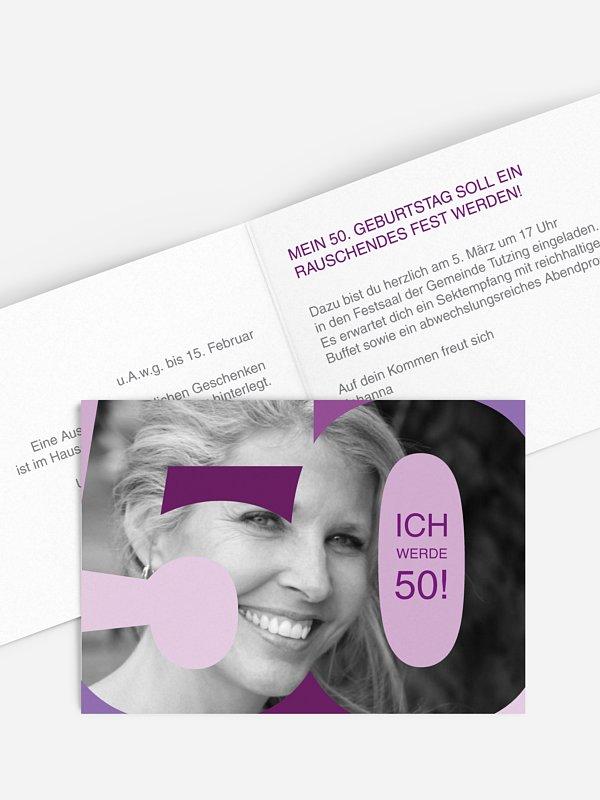 Einladung 50. Geburtstag Bestes Alter