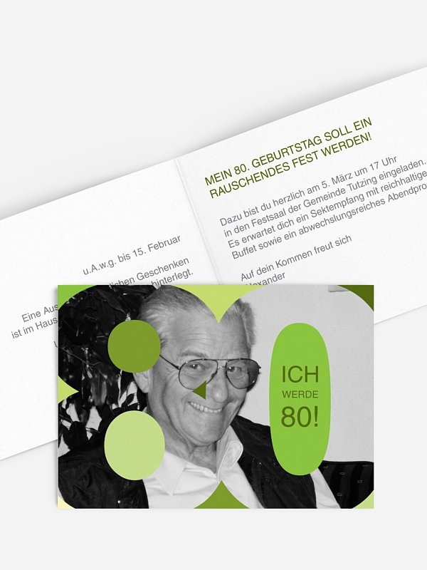 Einladung 80. Geburtstag Bestes Alter