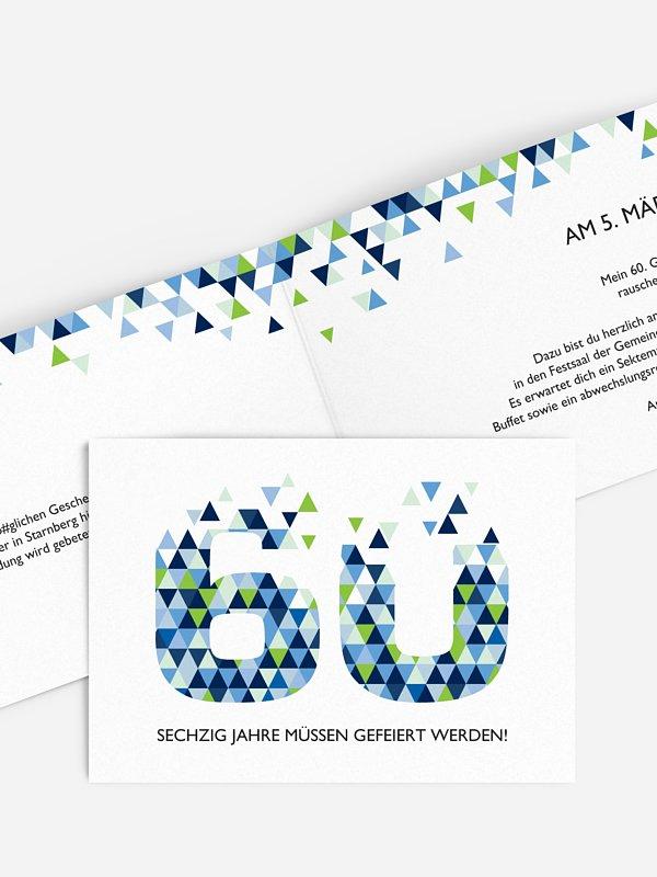 Einladung 60. Geburtstag Drei Ecken
