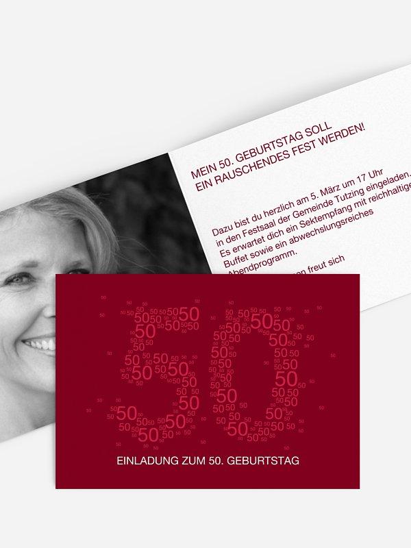 Einladung 50. Geburtstag Vielzahl