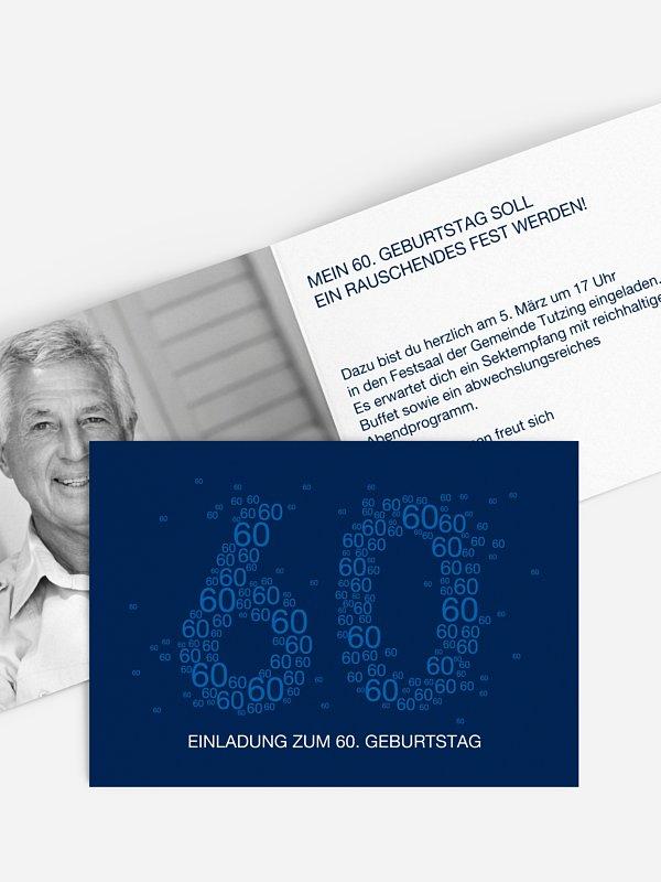 Einladung 60. Geburtstag Vielzahl