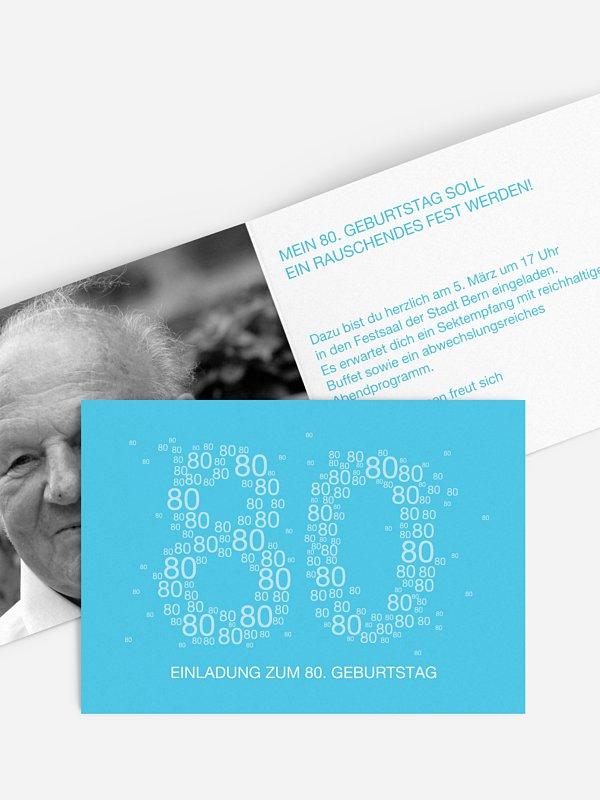 Einladung 80. Geburtstag Vielzahl