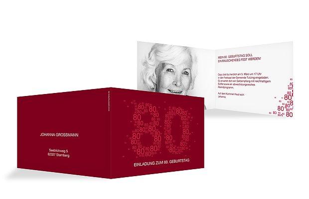Einladungskarten 80 geburtstag vielzahl - 80 geburtstag oma ideen ...