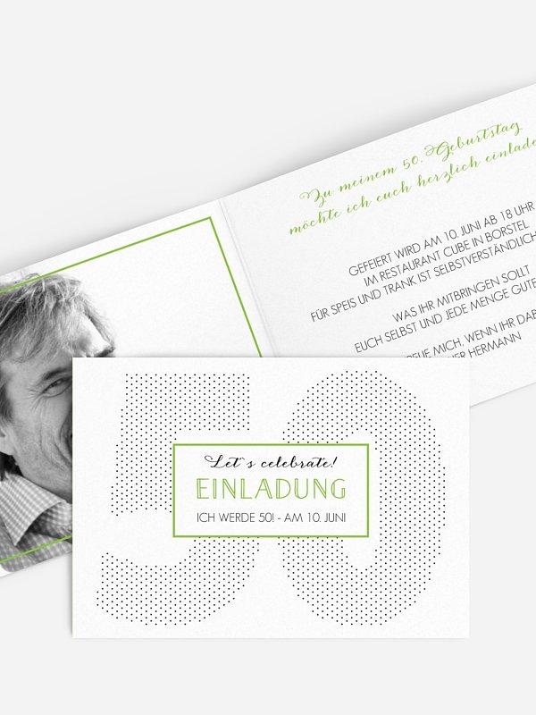 Einladung 50. Geburtstag Mit Punkten