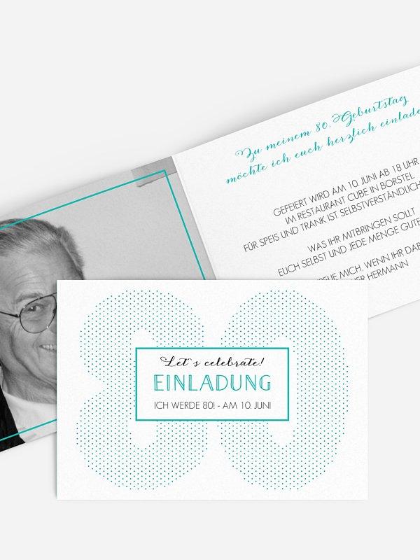 Einladung 80. Geburtstag Mit Punkten