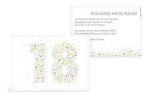 Einladung 18. Geburtstag Spritzig