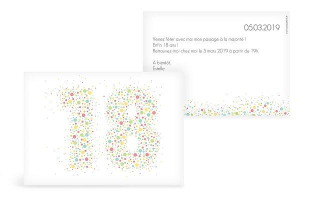 Carte Invitation Anniversaire 18 Ans Large Choix De Modeles