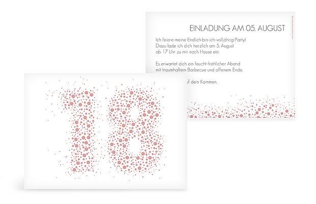 """Einladungskarten 18 Geburtstag Einladungskarten 18: Einladungskarten 18. Geburtstag """"Spritzig"""""""