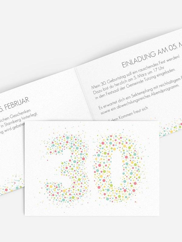 Einladung 30. Geburtstag Spritzig
