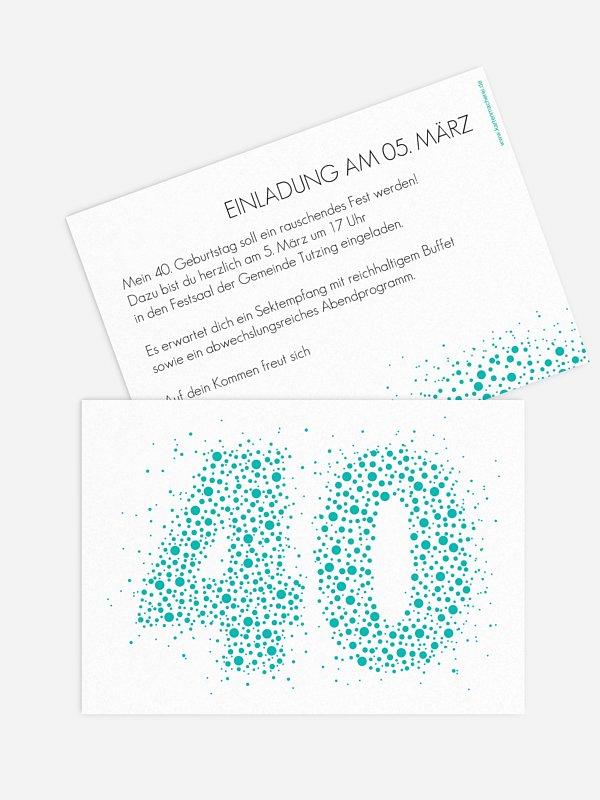 Einladung 40. Geburtstag Spritzig