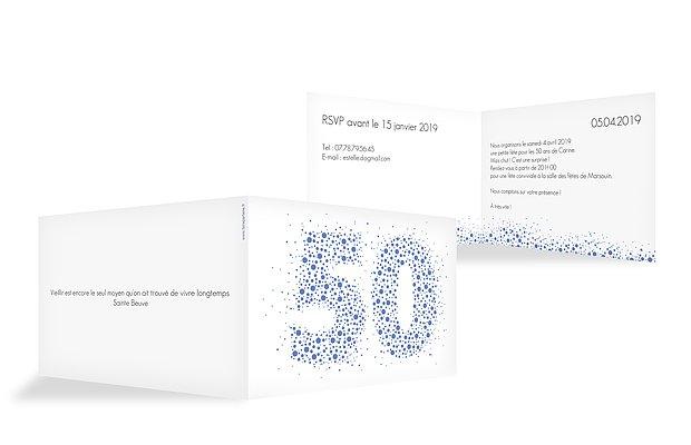 invitation anniversaire 50 Chiffre pétillant