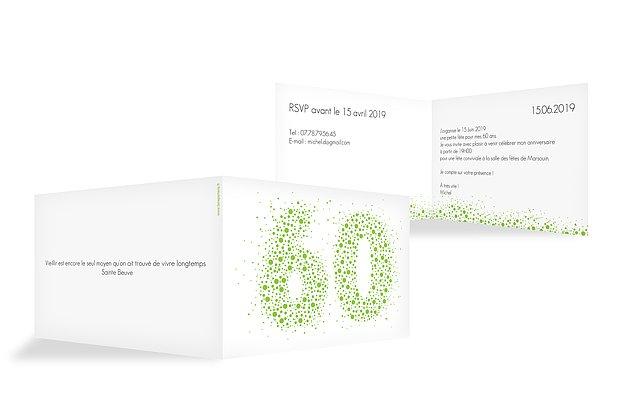 invitation anniversaire 60 Chiffre pétillant