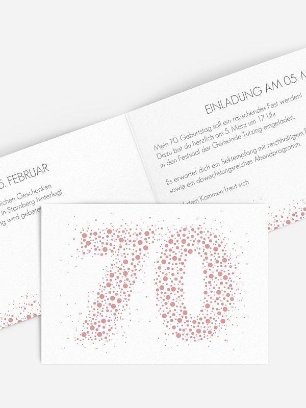 Einladung 70. Geburtstag Spritzig