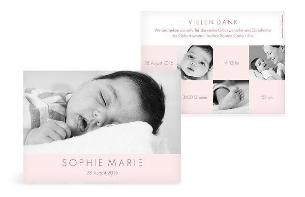 Geburtskarte Pures Glück