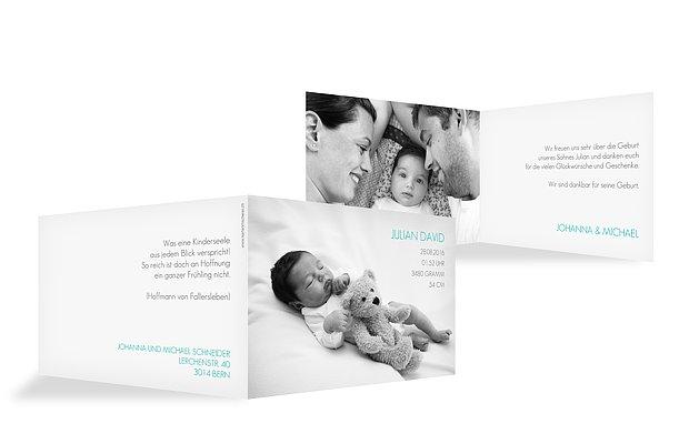 Geburtskarte Einfach schön