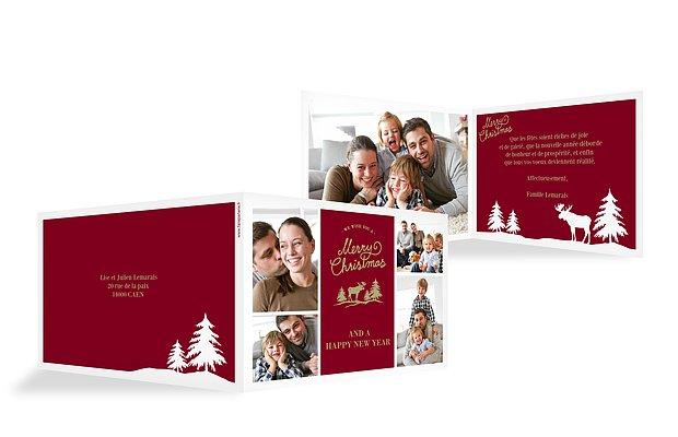 Carte de voeux Noël nordique