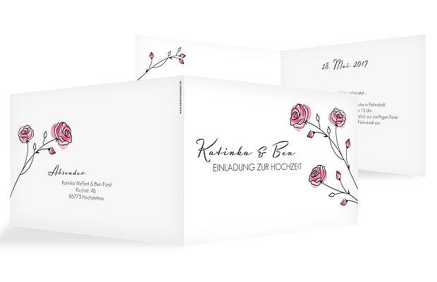 Hochzeitseinladung Roses