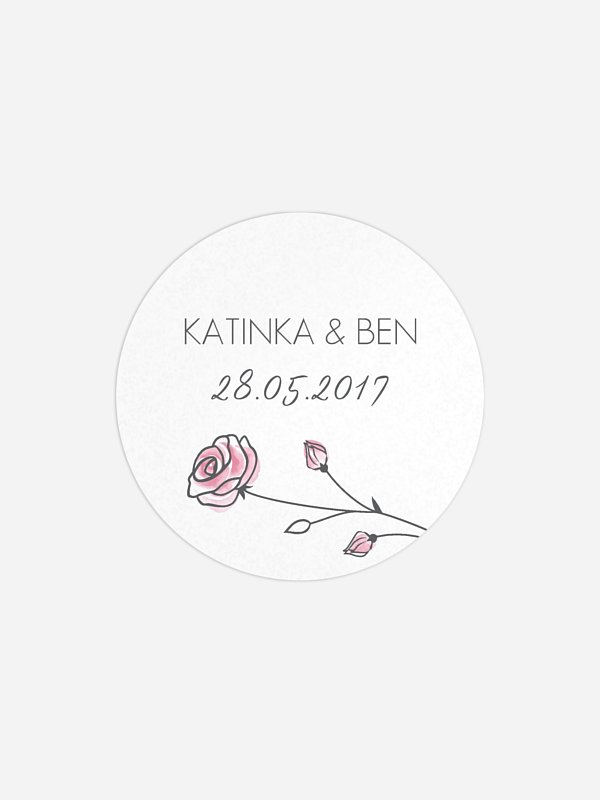 Geschenkaufkleber Hochzeit Roses