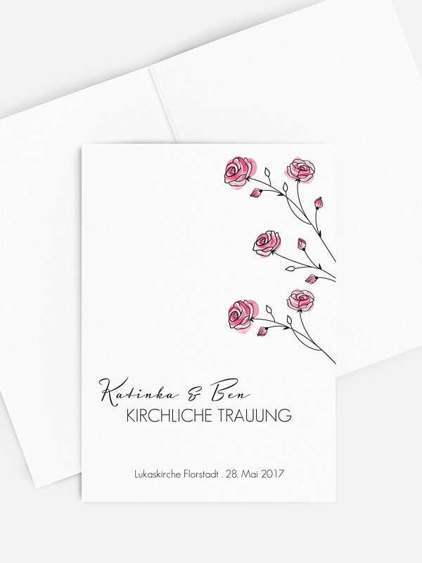 Kirchenheft Hochzeit Roses