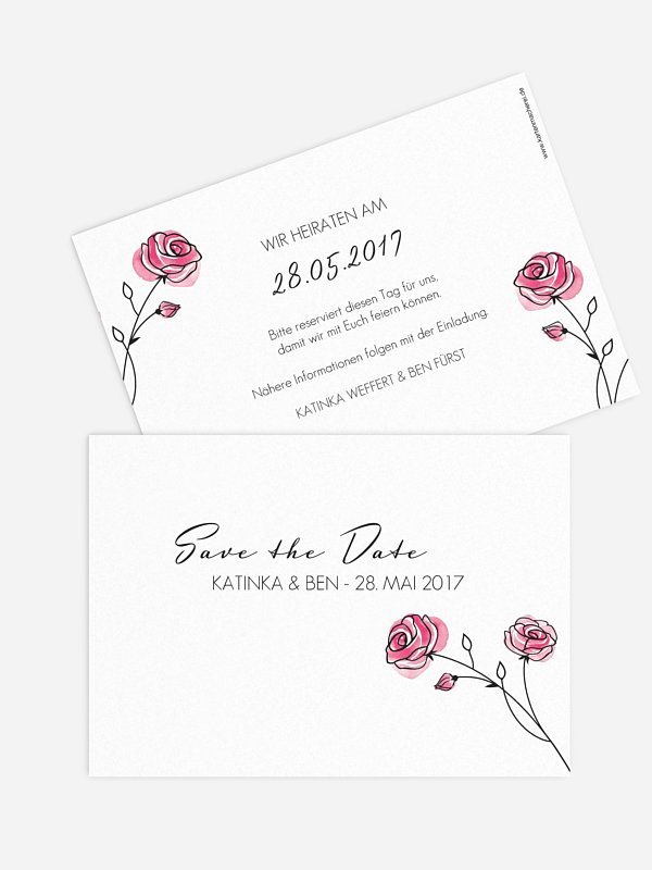 Save-the-Date Karte Roses
