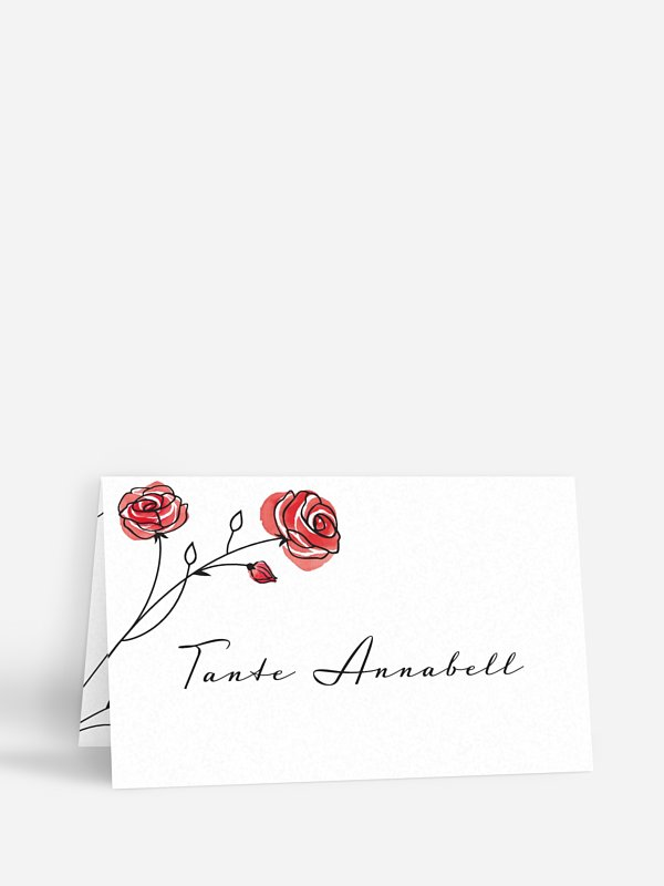 Tischkarte Hochzeit Roses